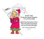 Christmas Caroler Daughter Yard Art Woodworking Pattern