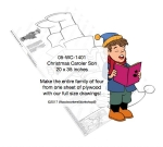 05-WC-1401 - Christmas Caroler Son Yard Art Woodworking Pattern