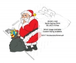 Santa Saying Shhh Yard Art Woodworking Pattern