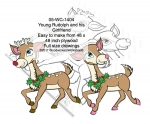 05-WC-1404 - Young Rudolph and his Girlfriend Yard Art Woodworking Pattern.