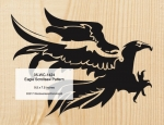 Eagle Scrollsaw Woodworking Pattern, eagles,birds of prey,art,painting wood crafts,scrollsawing patterns,drawings,woodworkers projects,workshop blueprints