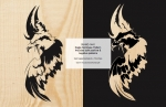 Eagle Positive and Negative Scrollsaw Woodworking Pattern