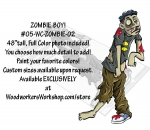 Boy Zombie Yard Art Woodworking Pattern