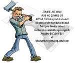 05-WC-ZOMBIE-03 - Axe Man Zombie Yard Art Woodworking Pattern