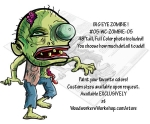 BIG Eye Zombie Yard Art Woodworking Pattern