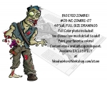 Bloody Zombie Yard Art Woodworking Pattern