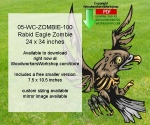 05-WC-ZOMBIE-100PDF - Rabid Eagle Zombie Yard Art Woodworking Pattern Downloadable PDF