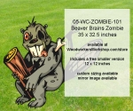 05-WC-ZOMBIE-101 - Beaver Brains Zombie Yard Art Woodworking Pattern