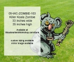 05-WC-ZOMBIE-103 - Killer Koala Zombie Yard Art Woodworking Pattern