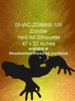 05-WC-ZOMBIE-105 - Kyran the Zombie Yard Art Woodworking Pattern