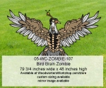 05-WC-ZOMBIE-107 - Bird Brain Zombie Yard Art Woodworking Pattern