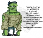 05-WC-ZOMBIE-11 - Frankenstein 48 inches tall Yard Art Woodworking Pattern