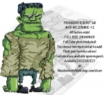 05-WC-ZOMBIE-12 - Frankenstein 80 inches tall Yard Art Woodworking Pattern