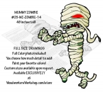 05-WC-ZOMBIE-14 - Mummy Zombie 48 inches tall Yard Art Woodworking Pattern