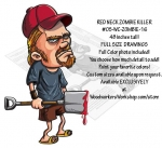 Red Neck Zombie Killer 48 inches tall Yard Art Woodworking Pattern