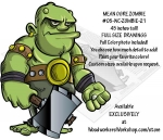 05-WC-ZOMBIE-21 - Mean Ogre Zombie 45 inches tall Yard Art Woodworking Pattern