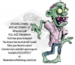 05-WC-ZOMBIE-23 - Spazing Zombie 48 inches tall Yard Art Woodworking Pattern