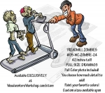 05-WC-ZOMBIE-24 - Treadmill Zombies Yard Art Woodworking Pattern