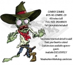 fee plans woodworking resource from WoodworkersWorkshop® Online Store - zombies,cowboys,western,rodeo,brains,blood,Halloween,walking undead,corpse,scary,brains,gross,spooky,yard art,painting wood crafts,scrollsawing patterns,drawings,woodworking plans,woodworkers projects