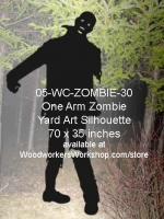 05-WC-ZOMBIE-30 - Ohanzee the Zombie Silhouette Yard Art Woodworking Pattern