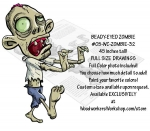 05-WC-ZOMBIE-32 - Beady-Eyed Zombie Yard Art Woodworking Pattern