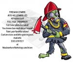 05-WC-ZOMBIE-33 - Fireman Zombie Yard Art Woodworking Pattern