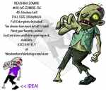 05-WC-ZOMBIE-36 - Reaching Zombie Yard Art Woodworking Pattern
