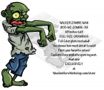 05-WC-ZOMBIE-38 - Walker Zombie Man Yard Art Woodworking Pattern