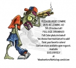 Pizza Delivery Zombie Yard Art Woodworking Pattern