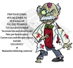 05-WC-ZOMBIE-42 - Professor Zombie Yard Art Woodworking Pattern