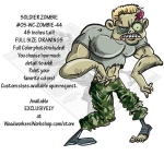 05-WC-ZOMBIE-44 - Solider Zombie Yard Art Woodworking Pattern