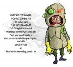 05-WC-ZOMBIE-46 - Undercover Zombie Yard Art Woodworking Pattern