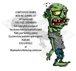 05-WC-ZOMBIE-47 - Composter Zombie Yard Art Woodworking Pattern