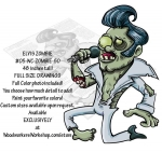 05-WC-ZOMBIE-50 - Elvis Zombie Yard Art Woodworking Pattern