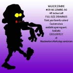 05-WC-ZOMBIE-56 - Walker Zombie Silhouette Yard Art Woodworking Pattern