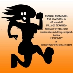 05-WC-ZOMBIE-57 - Running From Zombie Silhouette Yard Art Woodworking Pattern