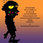 Rotted Zombie Silhouette Yard Art Woodworking Pattern