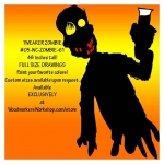 05-WC-ZOMBIE-61 - Tweaker Zombie Silhouette Yard Art Woodworking Pattern
