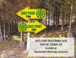 Zombie Safe Zone Sign Yard Art Woodworking Plan
