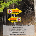 Emergency Uninfected Only Zombie Signs Yard Art Woodworking Pattern