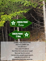 05-WC-ZOMBIE-68 - Check Point Zombie Signs Yard Art Woodworking Plan