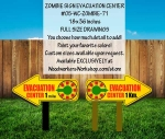 Evacuation Center Zombie Signs Yard Art Woodworking Plan