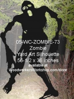 05-WC-ZOMBIE-73 - Ellison the Zombie Silhouette Yard Art Woodworking Pattern