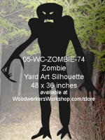 Darkness the Zombie Silhouette Yard Art Woodworking Pattern