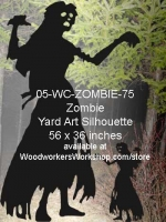05-WC-ZOMBIE-75 - Delia the Zombie Silhouette Yard Art Woodworking Pattern
