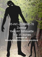 05-WC-ZOMBIE-76 - Kearne the Zombie Silhouette Yard Art Woodworking Pattern