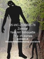 Kearne the Zombie Silhouette Yard Art Woodworking Pattern