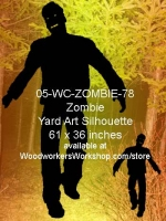 05-WC-ZOMBIE-78 - Jinx the Zombie Silhouette Yard Art Woodworking Pattern