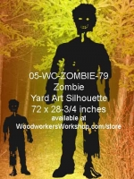 Zephyr the Zombie Silhouette Yard Art Woodworking Pattern