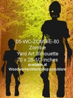 Shadow the Zombie Silhouette Yard Art Woodworking Pattern